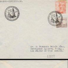 Sellos: AÑO 1956, ESPERANTO, CONGRESO INTERNACIONAL DE ESPERANTISTAS CATOLICOS EN ZARAGOZA, SOBRE CIRCULADO. Lote 182603380