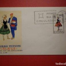 Sellos: SOBRE PRIMER DÍA DE CIRCULACIÓN S.P.D - TRAJES TIPICOS ALAVA - EDIFIL 1767 S.F.C.-A.248. Lote 182880838