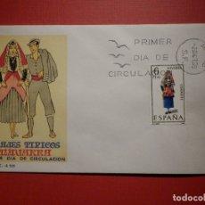 Sellos: SOBRE PRIMER DÍA DE CIRCULACIÓN S.P.D - TRAJES TIPICOS NAVARRA - EDIFIL 1907 S.F.C.-A.320. Lote 182883051