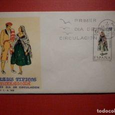 Sellos: SOBRE PRIMER DÍA DE CIRCULACIÓN S.P.D - TRAJES TIPICOS TARRAGONA - EDIFIL 1958 S.F.C.-A.346. Lote 182884212
