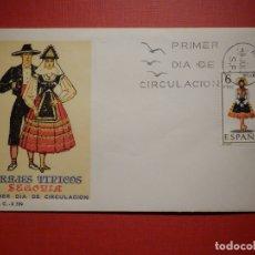 Sellos: SOBRE PRIMER DÍA DE CIRCULACIÓN S.P.D - TRAJES TIPICOS SEGOVIA - EDIFIL 1955 S.F.C.-A.339. Lote 182884725