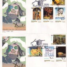 Sellos: PINTURA ESPAÑOLA OBRAS DE SALVADOR DALI 1994 (EDIFIL 3289/96) EN DOS SPD DEL SERVICIO FILATELICO.. Lote 183331172