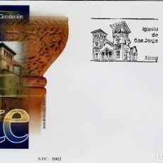 Sellos: ESPAÑA 2002- EDI 3951 [IGLESIA DE S. JORGE EN ALCOY] (SOBRE PD DEL SFC). Lote 183331570