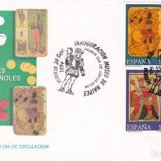 Sellos: MUSEO DE NAIPES 1994 (EDIFIL 3317/20) EN SPD DEL SERVICIO FILATELICO MATASELLOS VITORIA (ALAVA) RARO. Lote 183332035