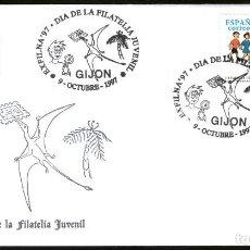 Sellos: SOBRE CONM. DIA DE LA FILATELIA JUVENIL - EXFILNA 97 GIJON. Lote 183495075