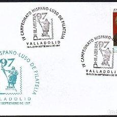 Sellos: SOBRE CONM. PHILAIBERIA 97 - VALLADOLID -CAMPEONATO HISPANO LUSO. Lote 183704111