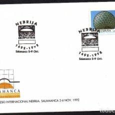 Sellos: SOBRE CONM. CONGRESO INTERNACIONAL NEBRIJA - SALAMANCA 92. Lote 183708727