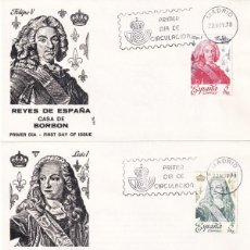 Sellos: REYES DE ESPAÑA CASA DE BORBON 1978 (EDIFIL 2496/2505) DIEZ SPD DIFERENTES DE ALFIL. RAROS ASI. MPM.. Lote 183862216