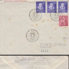 Sellos: AÑO 1954, ENFERMEDADES DEL TORAX, CONGRESO INTERNACIONAL EN BARCELONA, CIRCULADO, ESTADO VER FOTO. Lote 184030970