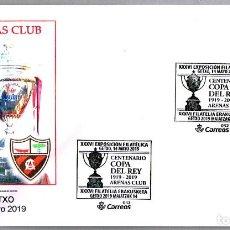 Sellos: MATASELLOS CENTENARIO COPA DEL REY 1919 - ARENAS CLUB - FUTBOL. GETXO 2019. Lote 184031406