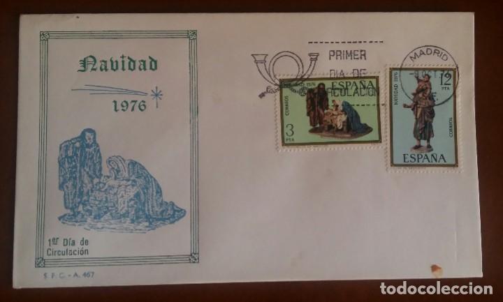 SPD. NAVIDAD 1976 (Sellos - Historia Postal - Sello Español - Sobres Primer Día y Matasellos Especiales)