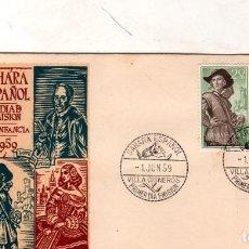Sellos: SOBRE PRIMER DIA. SAHARA ESPAÑOL. PRO- INFANCIA. 1959. VER FOTO.. Lote 184518382