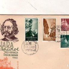 Sellos: SOBRE PRIMER DIA. SAHARA ESPAÑOL. PRO- INFANCIA. 1960. VER FOTO.. Lote 184519320