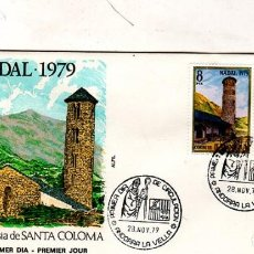 Sellos: SOBRE PRIMER DIA. NADAL. IGLESIA DE SANTA COLOMA. 1979. VER FOTO.. Lote 184534893