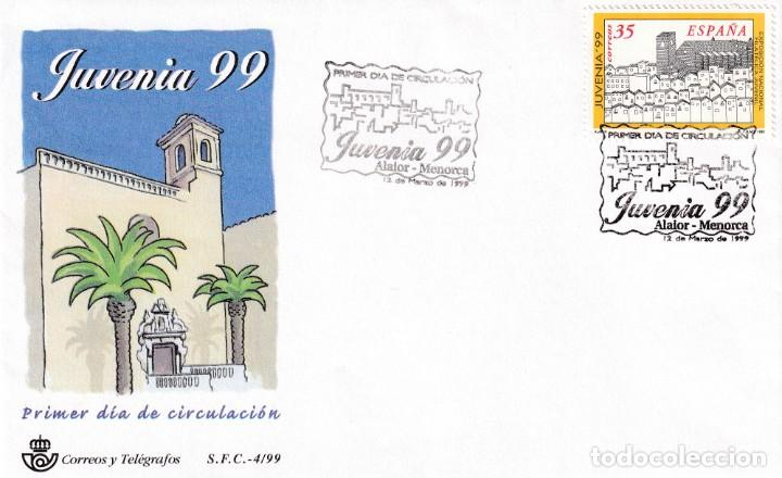 JUVENIA 99 EXPOSICION DE FILATELIA JUVENIL 1999 (EDIFIL 3622) SPD SFC MATASELLOS ALAIOR (BALEARES). (Sellos - Historia Postal - Sello Español - Sobres Primer Día y Matasellos Especiales)