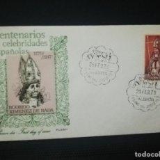 Sellos: SOBRE PRIMER DIA. CENTENARIO DE CELEBRIDADES ESPAÑOLAS. ( 1170- 1247 ). RODRIDO.DE RADA. 1970. VER.. Lote 184654006