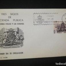 Sellos: SOBRE PRIMER DIA. TRES SIGLOS DE HACIENDA PUBLICA. 1980. VER FOTO.. Lote 184660856