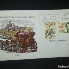 Sellos: SOBRE PRIMER DIA. HISTORIA DE LAS COMUNICACIONES EN EUROPA. 1979. VER FOTO.. Lote 184660988