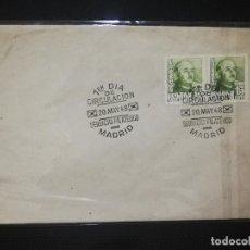 Sellos: SOBRE PRIMER DIA. SERVICIO FILATELICO, MADRID. 1948. VER FOTO.. Lote 184661081