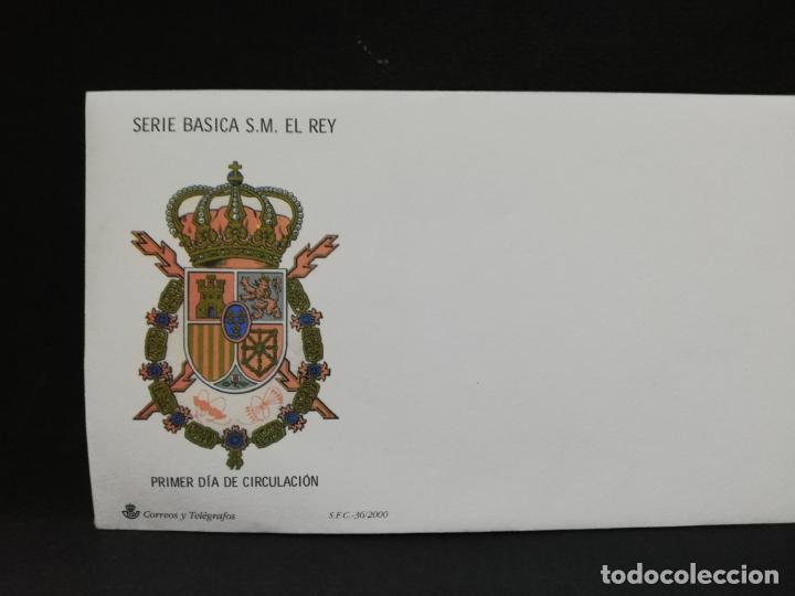 SOBRE PRIMER DIA. SERIE BASICA S. M. EL REY. (Sellos - Historia Postal - Sello Español - Sobres Primer Día y Matasellos Especiales)