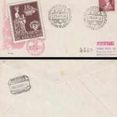 Sellos: AÑO 1952, FERIA INTERNACIONAL DE MUESTRAS DE BARCELONA, OFICIAL (SELLO AYUNTAMIENTO) CIRCULADO. Lote 185709968