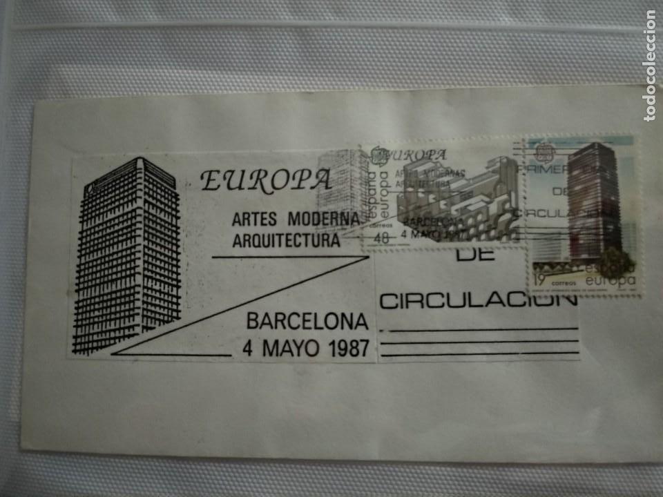 Sellos: SPD EUROPA 1987 ARTES MODERNAS. ARQUITECTURA 3 SOBRES - Foto 4 - 1565603