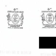 Sellos: ESPAÑA. MATASELLOS ESPECIAL. 175 ANIVERSARIO GUARDIA CIVIL. AVILES 2019. Lote 186246753