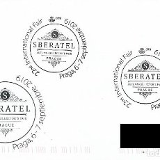 Sellos: ESPAÑA. MATASELLOS ESPECIAL. FERIA DE COLECCIONISMO DE OTOÑO. SBERATEL. PRAGA. 2019. Lote 186298363