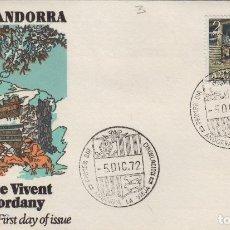 Selos: ANDORRA ESPAÑOLA 1972 ED 79 NAVIDAD -SOBRE PRIMER DIA ALFIL /SPD-FDC. Lote 186366133