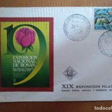 Sellos: SOBRE XIX FILATELICA EXPOSICION NACIONAL DE ROSAS SANT FELIU DE LLOBREGAT 1975 SOBRE Nº 500. Lote 186402533