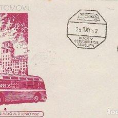 Sellos: AÑO 1952, CONGRESO EUCARISTICO BARCELONA MATASELLO AMBULANTE AUTOMOVIL. Lote 186442626