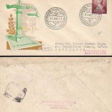 Sellos: AÑO 1951, EXPOSICIÓN DE GRACIA, SOBRE DE PANFILATELICAS CIRCULADO. Lote 187211678
