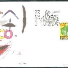 Sellos: [CF2710] ESPAÑA 2002, FDC EUROPA. CIRCO (NS). Lote 187546336