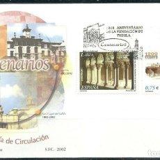 Sellos: [CF2711] ESPAÑA 2002, FDC SERIE CENTENARIOS (NS). Lote 187546385