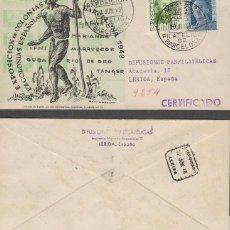 Sellos: AÑO 1948, FERIA DE MUESTRAS BARCELONA, EXPOSICIÓN COLONIAS Y EX-COLONIAS, SOBRE DE PANFILATELICAS CI. Lote 288471488