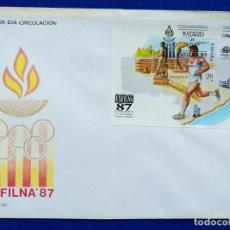 Sellos: SOBRE PRIMER DIA CIRCULACION. EXFILNA 87. 24 OCTUBRE 1987. MADRID EXPOSICION FILATELICA NACIONAL. Lote 190457722