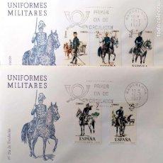 Sellos: ESPAÑA. SPD 2423/27 UNIFORMES MILITARES. 1977. MATASELLO PRIMER DÍA DE BARCELONA. Lote 191308703