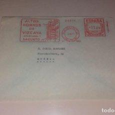 Sellos: FRANQUEO MECÁNICO. SOBRE COMERCIAL ALTOS HORNOS DE VIZCAYA SAGUNTO, AÑO 1971. Lote 191398586