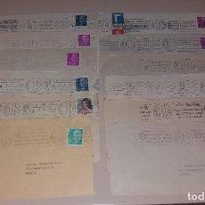 Sellos: MATASELLOS DE RODILLO. LOTE 12 SOBRES DIFERENTES (VOLTA, SAN FERMÍN, HOGUERAS, CAJA POSTAL). Lote 191409492
