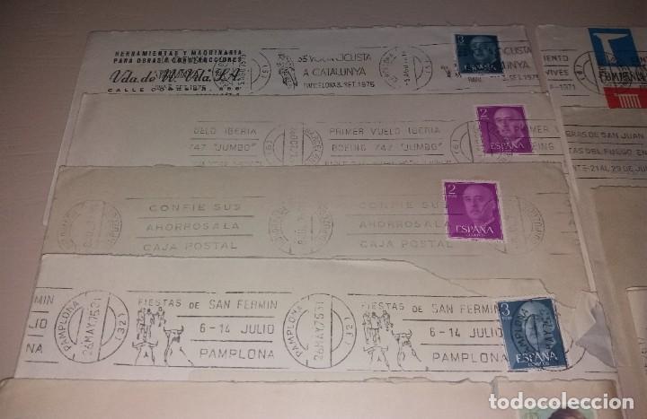 Sellos: Matasellos de rodillo. Lote 12 sobres diferentes (Volta, San Fermín, Hogueras, Caja Postal) - Foto 2 - 191409492