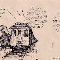 Sellos: TRENES MARQUES DE SALAMANCA CENTENARIO DEL FERROCARRIL 1948 (EDIFIL 1037) EN SPD ET. RARO ASI. MPM.. Lote 191932293