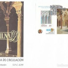 Sellos: EDIFIL 3625, EXFILNA'99, LA ALJAFERIA, ZARAGOZA, PRIMER DIA DE 9-4-1999 SFC. Lote 192159660