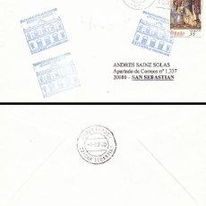 Sellos: AÑO 2000, PATERNA (VALENCIA) INAUGURACION DEL GRAN TEATRO ANTONIO FERRANDIS, CINE, SOBRE CIRCULADO. Lote 192356286
