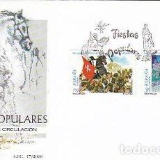 Sellos: EDIFIL 3719/20, FIESTAS POPULARES: SAN PEDRO MANRIQUE Y CIUDADELA, PRIMER DIA DE 23-6-2000 SFC. Lote 192356726