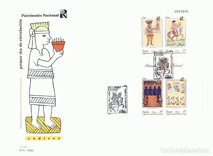 SOBRE PRIMER DÍA DE CIRCULACIÓN PATRIMONIO NACIONAL CÓDICES 1992 (Sellos - Historia Postal - Sello Español - Sobres Primer Día y Matasellos Especiales)