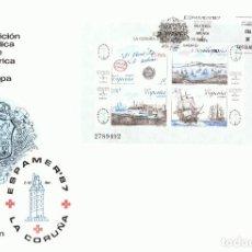 Sellos: SOBRE PRIMER DÍA DE CIRCULACIÓN ESPAMER´87 LA CORUÑA. Lote 193434830