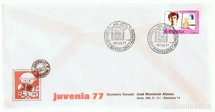 SOBRE JUVENIA 77 BARCELONA (Sellos - Historia Postal - Sello Español - Sobres Primer Día y Matasellos Especiales)