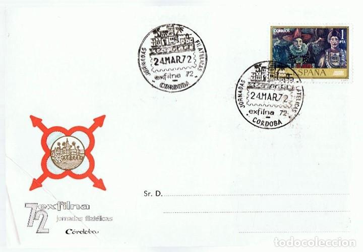 TARJETA POSTAL EXFILNA 72 CÓRDOBA (Sellos - Historia Postal - Sello Español - Sobres Primer Día y Matasellos Especiales)