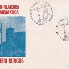 Sellos: ELECTRICIDAD IBERDUERO EXPOSICION FILATELICA Y NUMISMATICA, BURGOS 1981. MATASELLOS EN RARO SOBRE IL. Lote 194213087