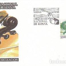 Sellos: EDIFIL 3098, ORQUESTA NACIONAL DE ESPAÑA (MUSICA), PRIMER DIA DE 20-12-1990 SFC. Lote 194303842